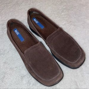 Keds Brown Suede Leather Slip-on Loafers